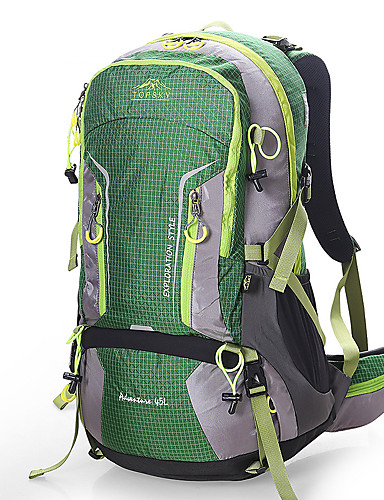 3d4b4220fa Hiking Backpack 45 L - Breathability Outdoor Hiking Camping Travel Orange  Army Green Green