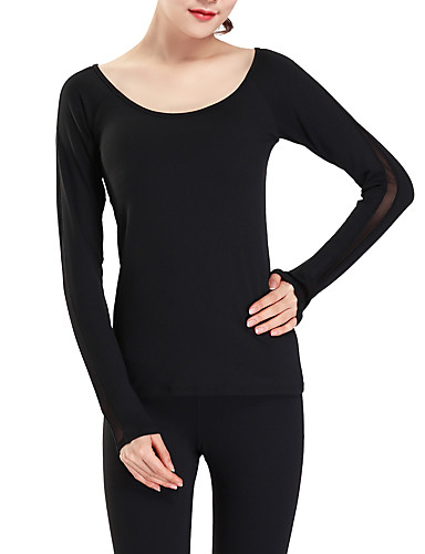 Majica s rukavima Žene - Aktivan / Osnovni Sport Jednobojni Otvorena leđa