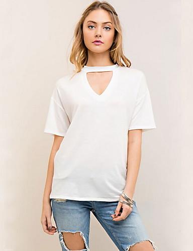 Majica s rukavima Žene Dnevno Jednobojni V izrez