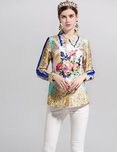Majica Žene - Aktivan / Osnovni Dnevno / Izlasci Jednobojni / Geometrijski oblici Kragna košulje