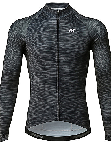 cheap Cycling Clothing-Mysenlan Men's Long Sleeve Cycling Jersey - Dark Gray Bike Jersey Sports Polyester Taffeta Mountain Bike MTB Road Bike Cycling Clothing Apparel / Micro-elastic / Expert / Expert / Breathable Armpits