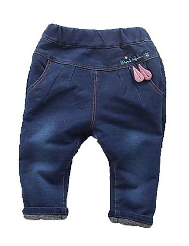 Candido Bambino Da Ragazza Attivo Collage Collage Cotone - Poliestere Jeans Blu - Bambino (1-4 Anni) #06839116 In Vendita