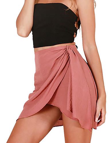 Žene A kroj Izlasci Asimetričan Suknje - Jednobojni