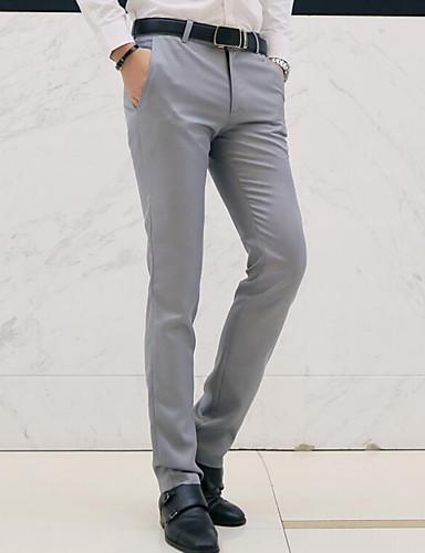 hesapli Erkek Pantolonları ve Şortları-Erkek Temel Büyük Bedenler Günlük Çalışma İnce Takım Elbise / Chinos Pantolon - Solid Açık Mavi Haki Navy Mavi XL XXL XXXL