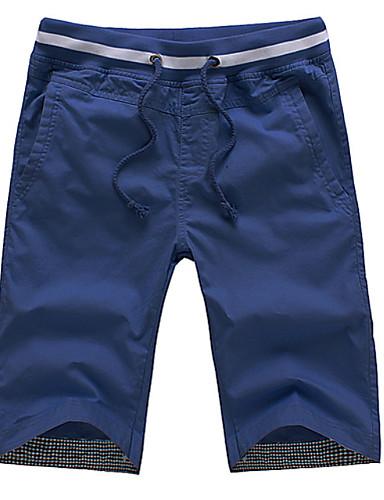 Muškarci Osnovni Kratke hlače Hlače - Jednobojni Crn XXL