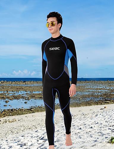 HISEA® Men's Full Wetsuit 2.5mm SCR Neoprene Diving Suit High Elasticity Long Sleeve Autumn / Fall / Summer