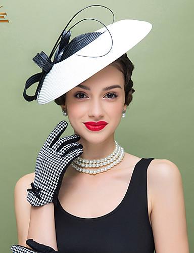 ieftine Nunți & Evenimente-Pană / Poliester Kentucky Derby Hat / Palarioare / Veșminte de cap cu Floral 1 buc Nuntă / Ocazie specială / Casual Diadema