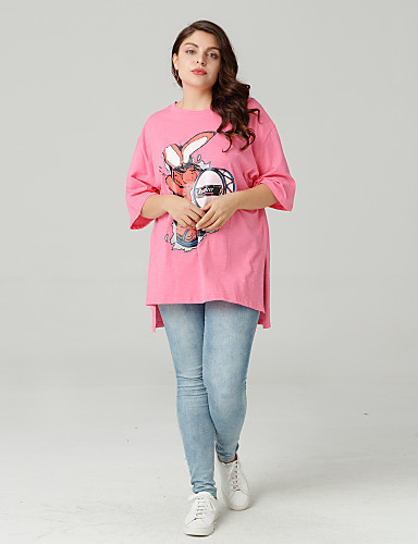 billige Dametopper-Store størrelser T-skjorte Dame - Dyr Ut på byen