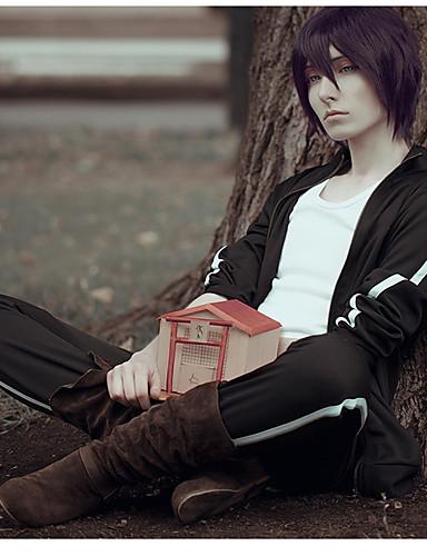 levne Anime kostýmy-Inspirovaný Noragami Cookie Anime Anime Cosplay kostýmy japonština Cosplay šaty Anime Dlouhý rukáv Kalhoty / šála či šátek Pro Pánské