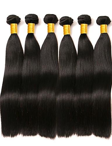 baratos Liquidação-6 pacotes Cabelo Brasileiro Liso 8A Cabelo Humano Cabelo Bundle Um Pacote de Solução Extensões de Cabelo Natural 8-28 polegada Côr Natural Tramas de cabelo humano extensão Melhor qualidade Venda