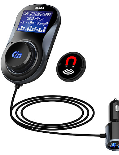 povoljno Posebne ponude potrošačke elektronike-waza bt01 bluetooth 4.1 automobilski handsfree bluetooth kit fm odašiljač mp3 player s dual usb punjačem qc3.0 podrška tf kartica