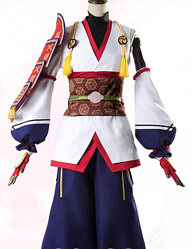 abordables Disfraces de Anime-Inspirado por Fate / zero Archer / Tomoe Gozen Animé Disfraces de cosplay Trajes Cosplay Flores / Botánica Chaqueta / Pantalones / Más Accesorios Para Mujer