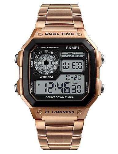 ad61265bc0e baratos Relógios Digitais-Homens Relogio digital Digital Aço Inoxidável  Preta   Prata   Dourada Cronógrafo