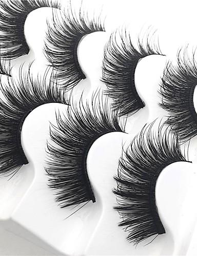 ราคาถูก Beauty & Hair-ขนตาปลอม 10 pcs หนา หลายเครื่องมือ Pro ธรรมชาติ ความหงิก เส้นใย Practise สวมใส่ทุกวัน ขนตาเต็มเส้น หนา - แต่งหน้า เมคอัพประจำวัน ชุดกระโปรงแบบGlamorous & Dramatic คุณภาพสูง ประทิ่น Grooming Supplies
