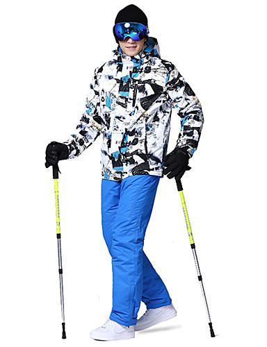 povoljno Skijaška i snowboard odjeća-Wild Snow Muškarci Skijaška jakna i hlače Vjetronepropusnost Toplo vodootporan Skijanje Pješačenje Multisport Poliester 100% pamuk Kompleti odjeće Skijaška odjeća / Zima