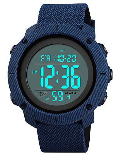 71684a37c5d SKMEI Homens Relógio Esportivo Relógio Militar Relogio digital Japanês  Digital Couro PU Acolchoado Preta   Azul   Verde 50 m Impermeável Alarme  Calendário ...
