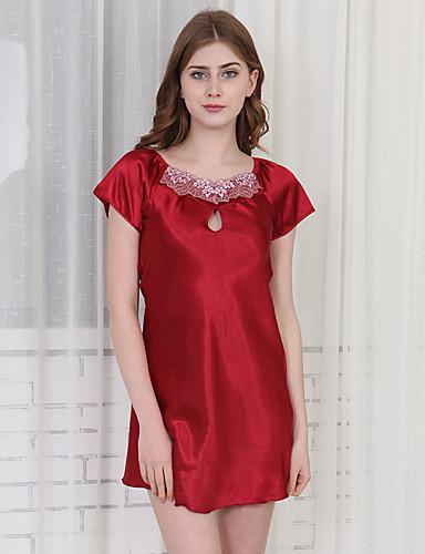 abordables Lingerie-Rayon / polyester Robes de Chambre Mariage Non personnalisé Couleur Unie