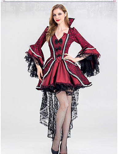 Vampire Dress Cosplay Costume Party Costume Women s Adults  Dresses  Halloween Halloween Masquerade Festival   Holiday Lace Terylene Outfits Red  Printing ... 8bad37c9a831