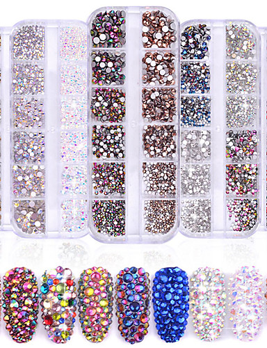 cheap Sale-1440 pcs Classic / High Transparency Rhinestone Nail Jewelry Rhinestones For Finger Nail Wedding Ball nail art Manicure Pedicure Party / Evening / Daily / Engagement Party Artistic / Aristocrat Lolita
