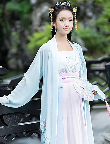 be91dbdbd Dance Costumes Hanfu Women's Training / Performance Cotton Embroidery Long  Sleeve Coat
