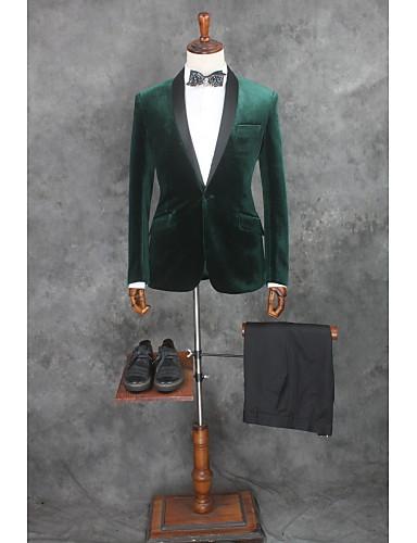 Jednobojni Kroj po mjeri Pamuk / Poliester Odijelo - Stepenasti Droit 1 bouton / odijela