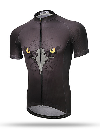 cheap Cycling Clothing-XINTOWN Men's Short Sleeve Cycling Jersey - Black Eagle Bike Top Breathable Quick Dry Back Pocket Sports Terylene Mountain Bike MTB Road Bike Cycling Clothing Apparel / Stretchy / Sweat-wicking