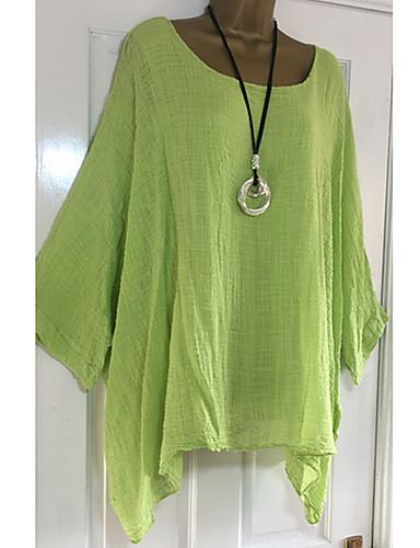 billige Topper til damer-Store størrelser T-skjorte Dame - Ensfarget Gatemote Rosa