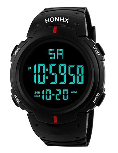 Muškarci Sportski sat digitalni sat Japanski Šiljci za meso Silikon Crna 30 m Vodootpornost Alarm Kalendar Šiljci za meso Moda - Crn Black / Red / Kronograf / Štoperica / Svijetli u mraku