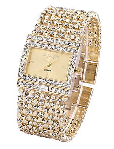 Žene Ručni satovi s mehanizmom za navijanje Diamond Watch Zlatni sat Japanski Kvarc Nehrđajući čelik Srebro / Zlatna Kronograf Svjetleći Casual sat Analog dame Svjetlucavo Elegantno - Zlato Pink