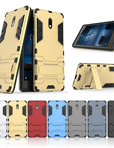 Θήκη Za Nokia Nokia 3 Otporno na trešnju / sa stalkom Stražnja maska Jednobojni / Oklop Tvrdo PC