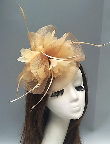abordables Chapeau & coiffure-Plume / Filet Fascinators / Casque avec Plume / Fleur 1pc Mariage / Occasion spéciale Casque
