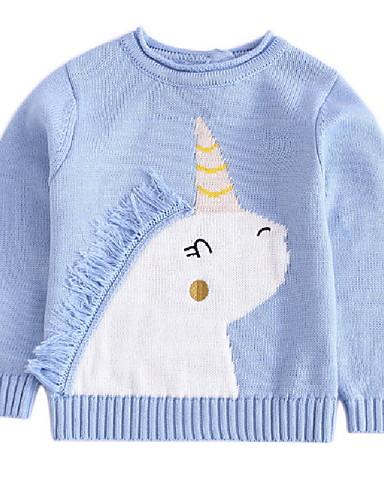 Djeca Djevojčice Aktivan Dnevno Jednobojni Geometrijski oblici Dugih rukava Regularna Džemper i kardigan Blushing Pink