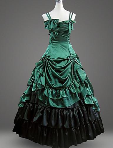 cbd83a2ea65 Κλασσική Lolita Rococo Barroco Γυναικεία Φορέματα Χορός μεταμφιεσμένων  Party Prom Cosplay Πράσινο / Μαύρο Βραδινή τουαλέτα Μακρύ Μεγάλα Μεγέθη  Κοστούμια