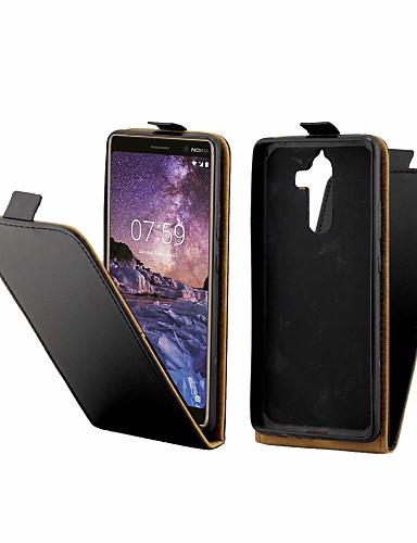 Θήκη Za Nokia Nokia 7 Plus Utor za kartice / Zaokret Korice Jednobojni Tvrdo PU koža