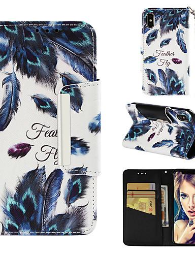 ケース 用途 Apple iPhone XS / iPhone XR / iPhone XS Max ウォレット / カードホルダー / スタンド付き フルボディーケース 羽毛 ハード PUレザー