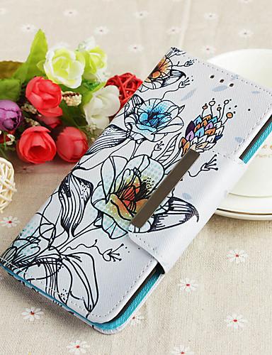 Θήκη Za Huawei Y9 (2018)(Enjoy 8 Plus) Novčanik / Utor za kartice / Zaokret Stražnja maska Cvijet Tvrdo PU koža