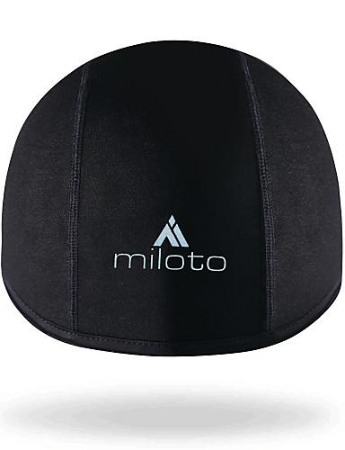 cheap Cycling Clothing-Miloto Cycling Beanie / Hat Helmet Liner Skull Cap Beanie UV Resistant Fleece Lining Breathable Warm Anti-slip Strap Bike / Cycling Black Spandex Fleece Winter for Men's Women's Adults' Outdoor