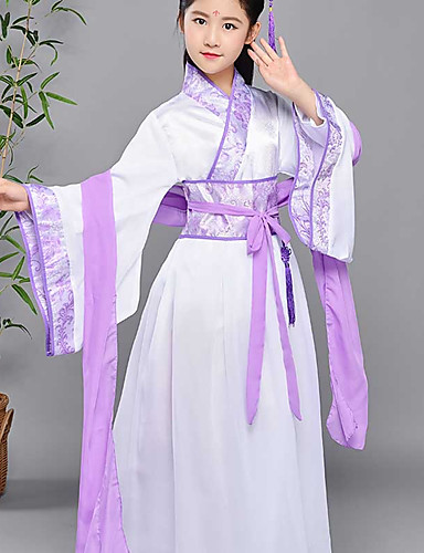 5774cba69 Dance Costumes Hanfu Girls' Performance Spandex Split Joint Long Sleeve  Dress / Waist Accessory