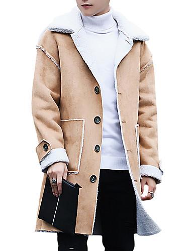 1a5377f2a3 Χαμηλού Κόστους Ανδρικά μπουφάν και παλτό-Ανδρικά Καθημερινά Βασικό  Φθινόπωρο  amp  Χειμώνας Μακρύ Καμπαρντίνα