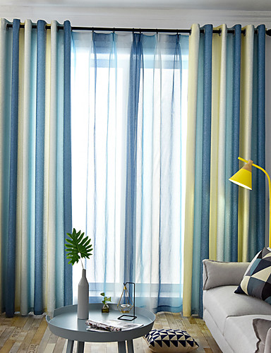 Modern Curtains Drapes Two Panels Curtain Dining Room