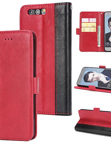 Θήκη Za Huawei Honor 9 Novčanik / Utor za kartice / Zaokret Stražnja maska Jednobojni Tvrdo PU koža