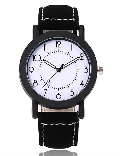 Žene Sat uz haljinu Ručni satovi s mehanizmom za navijanje Kvarc Umjetna koža Crna / Smeđa Casual sat Analog Moda Minimalistički - Crn Braon