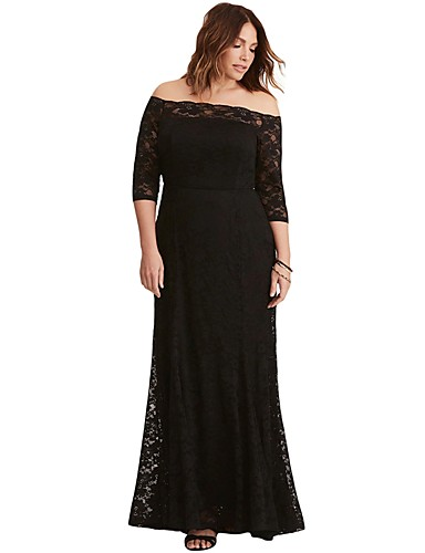 Women\'s Plus Size Party Birthday Elegant Maxi Skinny Bodycon Dress ...