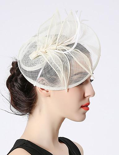 17f27f93a6168 Elizabeth The Marvelous Mrs. Maisel Women s Adults  Ladies Retro   Vintage Feather  Net Hat Fascinator Hat Headbands Hair Clip White Black Flower Headwear ...