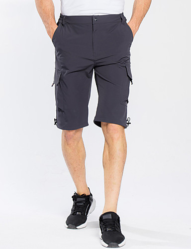 cheap Outdoor Clothing-Men's Hiking Shorts Outdoor Breathable Quick Dry Sweat-Wicking Spring Summer Shorts Bottoms Camping / Hiking Fishing Climbing Grey Khaki Dark Navy XL XXL XXXL - FLYGAGa
