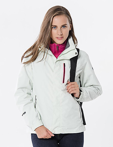 cheap Outdoor Clothing-Women's Hiking Jacket Outdoor Autumn / Fall Spring Windproof Rain Waterproof Breathability Softness 3-in-1 Jacket Top Single Slider Outdoor Exercise Black / Purple / Fuchsia / Winter