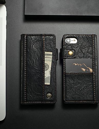 Θήκη Za Apple iPhone 8 / iPhone 7 Utor za kartice / Otporno na trešnju / sa stalkom Korice Jednobojni Tvrdo PU koža