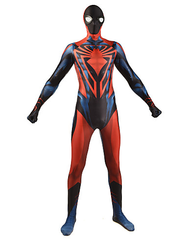 Zentai odijela Odijelo za kožu Puno radno odijelo uz tijelo Super Heroes Dječji Odrasli Lycra Cosplay Nošnje Muškarci Žene Crvena Print Božić Halloween New Year