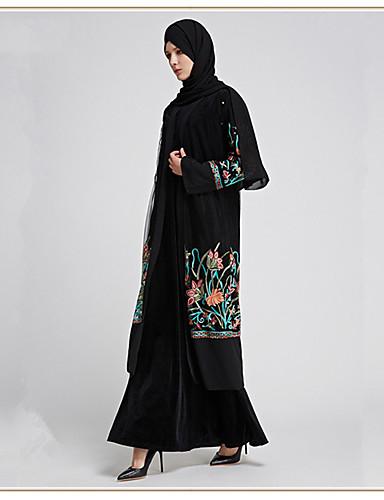 c2c237388f28 Χαμηλού Κόστους Ethnic  amp  Cultural Κοστούμια-Ενηλίκων Γυναικεία Etnic  Αραβικό φόρεμα Αμπάγια Φόρεμα Kaftan