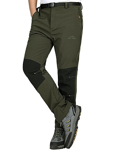 cheap Outdoor Clothing-Men's Solid Color Hiking Pants Outdoor Waterproof Windproof Ultraviolet Resistant Breathability Autumn / Fall Winter Pants / Trousers Hunting Ski / Snowboard Hiking Jade Black Gray XXL XXXL 4XL